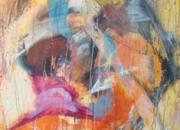 vendo cuadro abstracto de vivos colores
