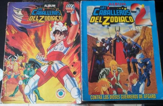 Álbum de figuras de caballeros del zodiaco 1 y 2 $80