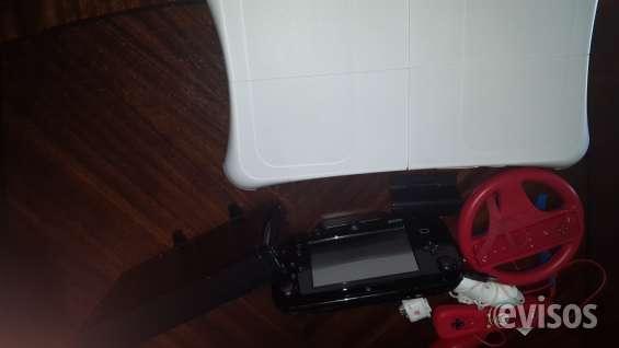 Wii u + floor pad + 6 juegos + timon + controles extra