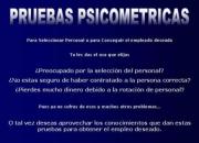 VENTA DE PRUEBAS PSICOLOGICAS EN SOFTWARE