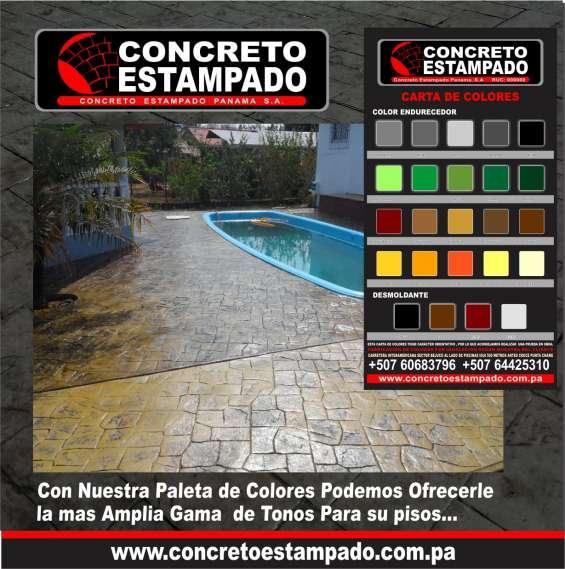 Instalación de pisos de concreto estampado decorativo