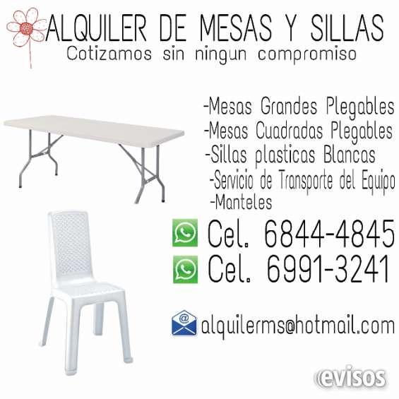 De Alquiler Mesas Miguelito Sillas Plasticas En San Plegables Y srxthQdC