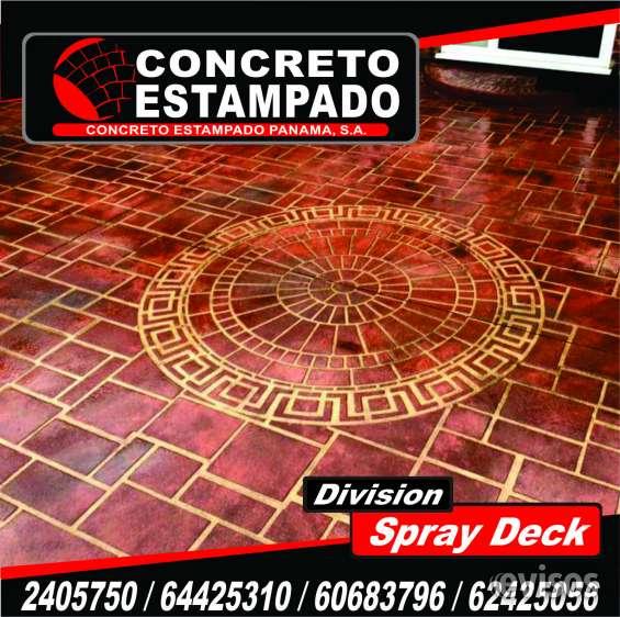 Spray deck/concreto estampado