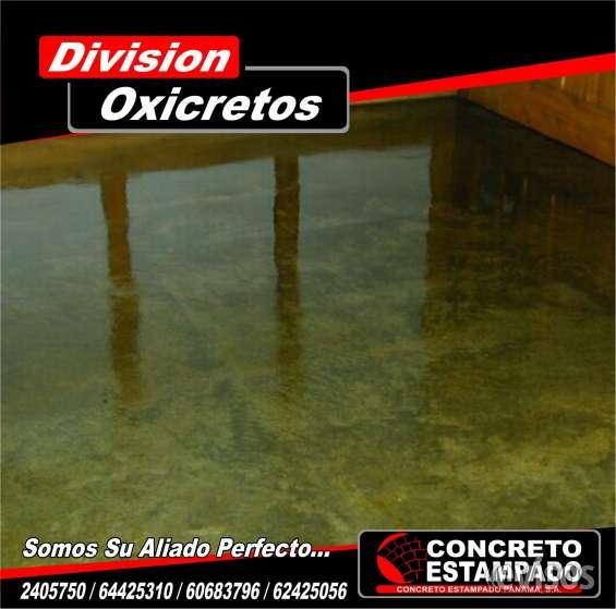 Pisos concreto oxidado de concreto oxodaps