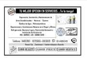 SERVICIOS TECNICOS REFRIGERACION ELECTRICIDAD MECANICA LIGERA