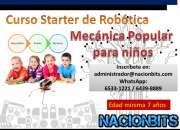 Curso inicial de Robótica/ mecánica popular para niños
