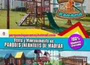VENDEMOS JUEGOS DE NIÑOS PARQUES INFANTILES DE MADERA