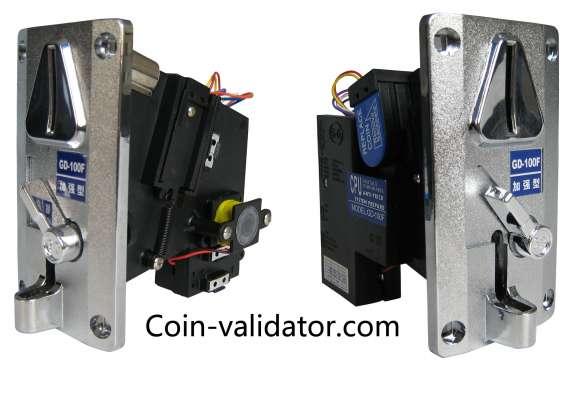 Aceptadores validadores selectores de monedas