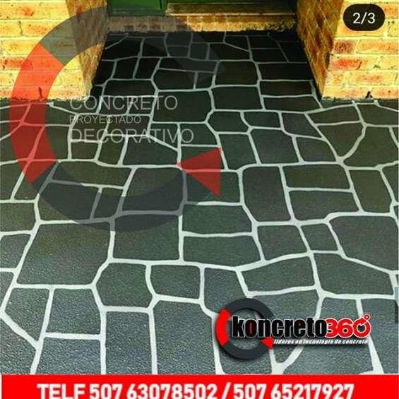 Restaure su piso de concreto sin demolerlo