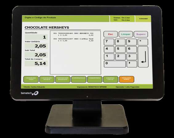 Pos all in one bematech sb1015w