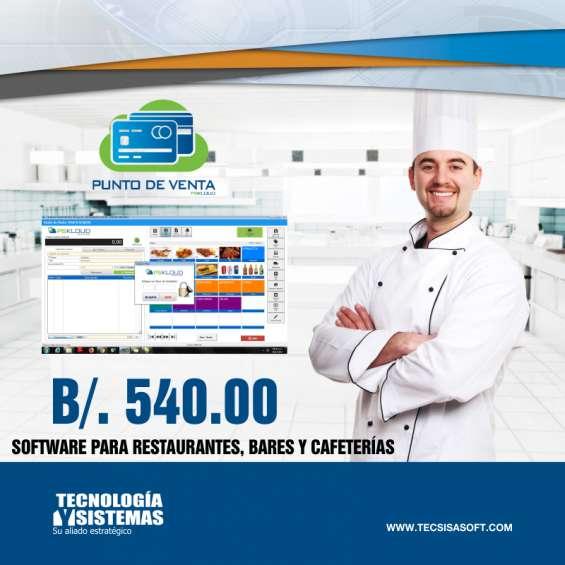 Software para restaurantes, bares, discotecas y cafeterías