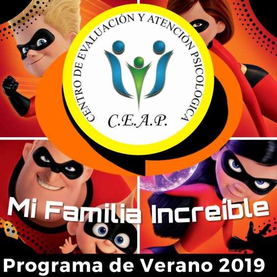 Taller de verano 2019 mi familia increíble para niños