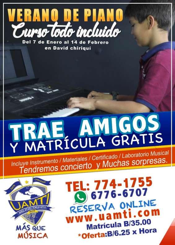 Gran curso de piano todo incluido este en uamti chiriqui reserva al 6776-6707 774-175