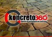 Pisos de concreto estampado y revestimiento de paredes