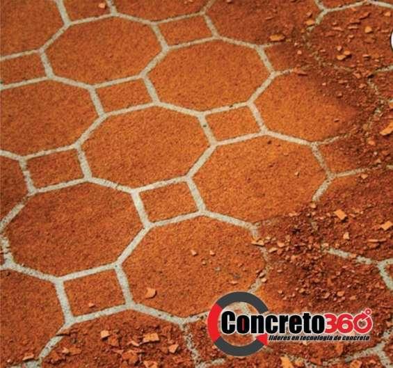 Fotos de Pisos de concreto estampado y revestimiento de paredes 2