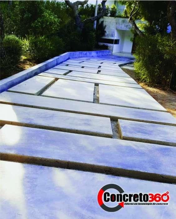 Fotos de Pisos de concreto estampado y revestimiento de paredes 4