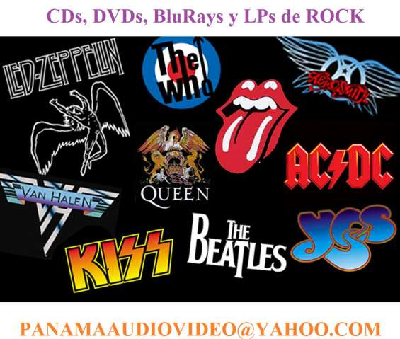 Vendo cds dvds blu-rays y lps de rock