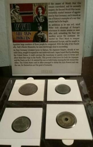 Set de monedas de la segunda guerra mundial
